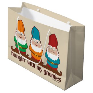 Hangin' With My Gnomies Cute Large Gift Bag