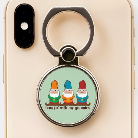 Hangin' With My Gnomies | Green Phone Ring Stand