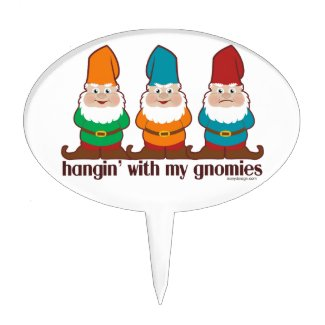 Hangin' With My Gnomies Oval Cake Pick