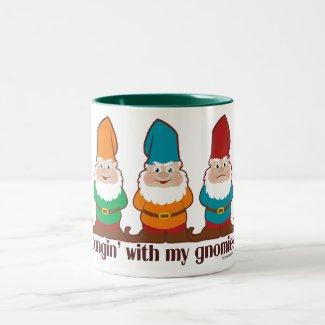 Hangin' With My Gnomies Two-Tone Coffee Mug