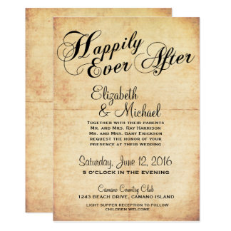 Happily Ever After Fairytale Wedding Invitation