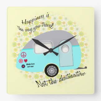 Happiness is the way you travel wall clocks