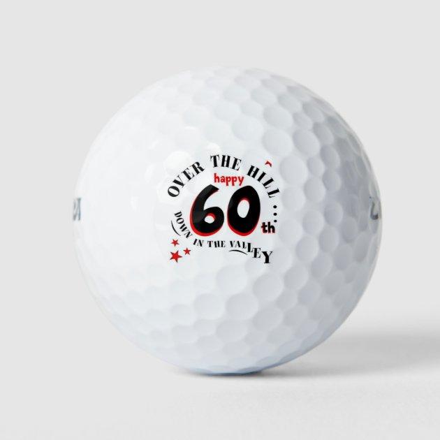 Happy 60th Birthday Golf Balls