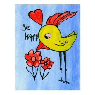 Happy Bird Postcard