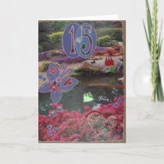 Happy Birthday - 15th - Scrapbook 1 - Seasons Card card