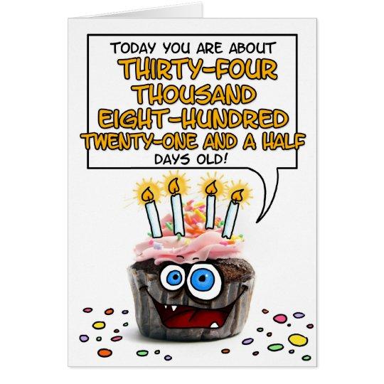 Happy Birthday Cupcake 95 Years Old Card Zazzle