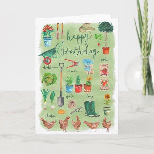 Happy Birthday Gardening Garden | Greeting Card