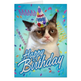 Happy Birthday Grumpy Cat Greeting Cards