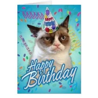 Happy Birthday Grumpy Cat Greeting Cards