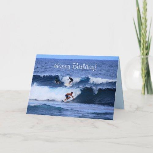 Happy Birthday Hawaiian Surfers card