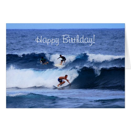 Happy Birthday Hawaiian Surfers Cards