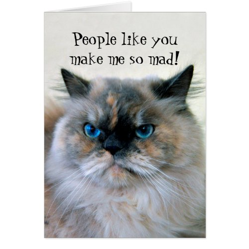 Happy Birthday Himalayan Persian Cat Humor Card