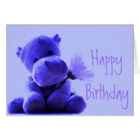 Happy Birthday Hippo Greeting Card