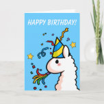 ❤️ Happy Birthday Llama Card