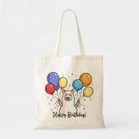 Happy Birthday Llama Tote Bag