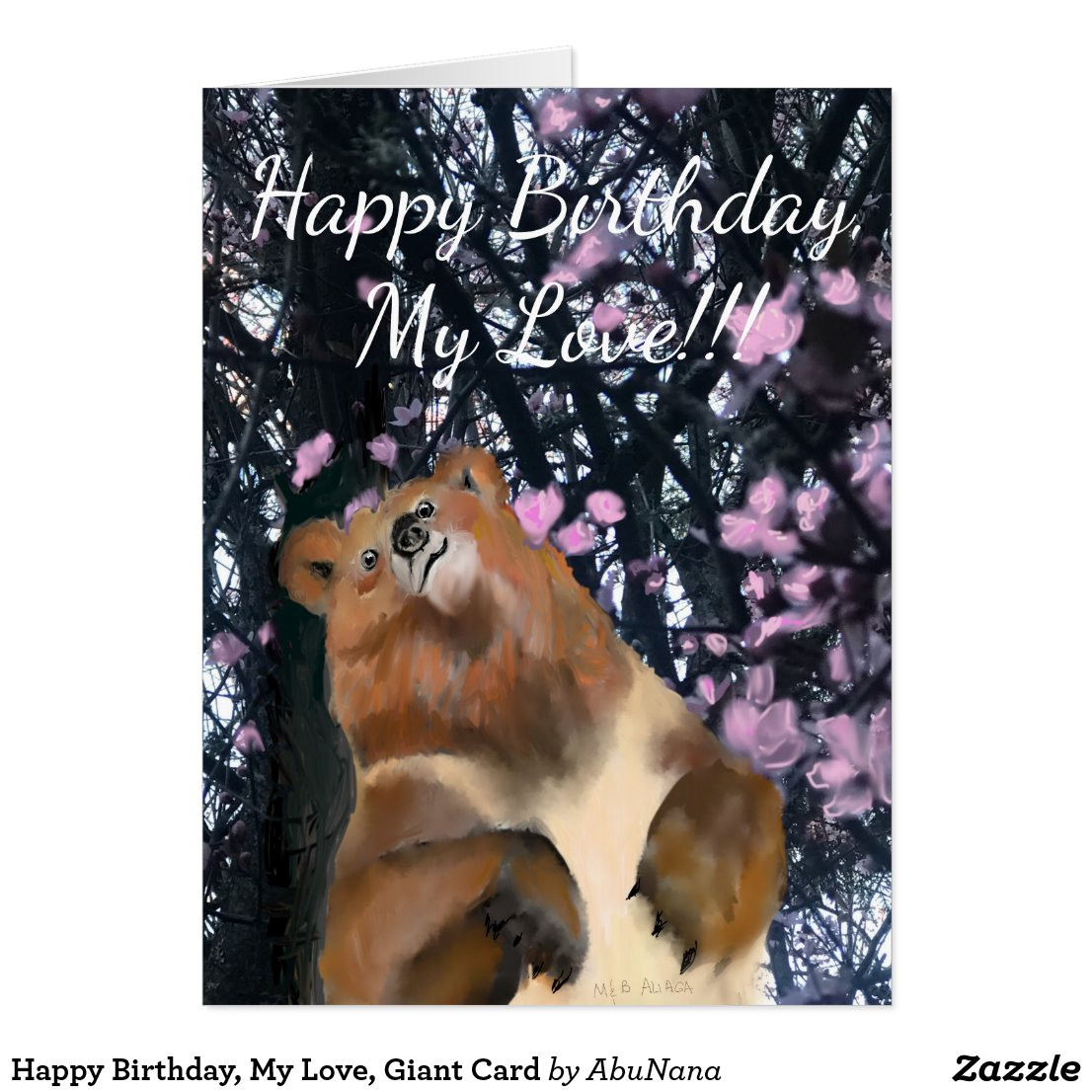 Happy Birthday, My Love, Giant Card