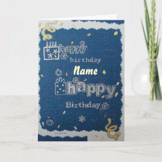 Happy Birthday - Scrapbook 1 - Seasons Card card