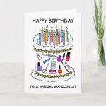 Happy Birthday To Manicurist Nail Technician Card Zazzle Com
