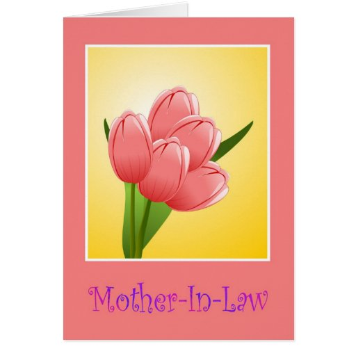 Happy Birthday to mother in law with flowers Card | Zazzle