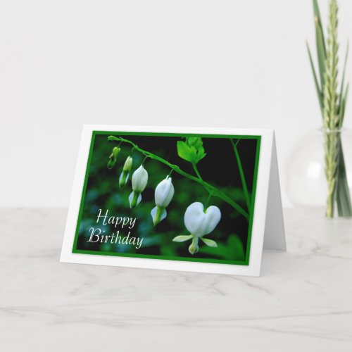 Happy Birthday White Hearts card