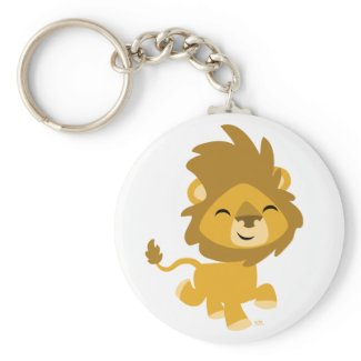 Happy Cartoon Lion keychain keychain