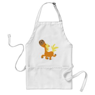 Happy Cartoon Pony Cooking Apron apron