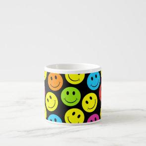 Happy Colorful Smiley Faces Pattern Espresso Cup
