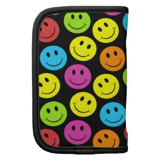 Happy Colorful Smiley Faces Pattern Planner
