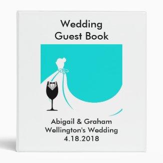Happy Couple Wedding Guest Book Binder