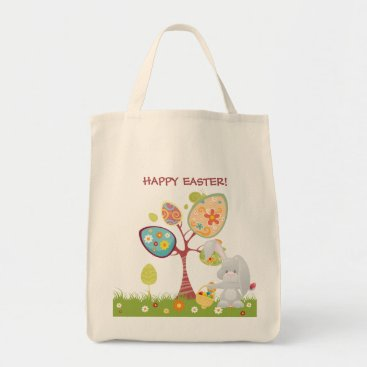 Happy Easter Abstract Art Personalized Tote Bag