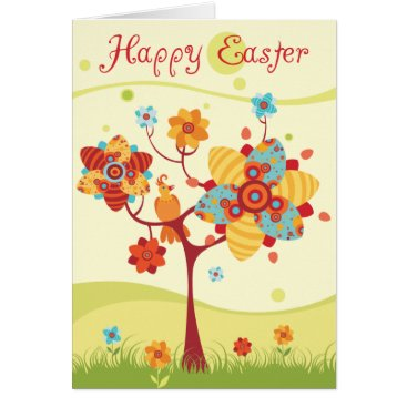 Happy Easter - Abstract Tree Card