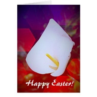 Happy Easter Calla Lily Greeting Card
