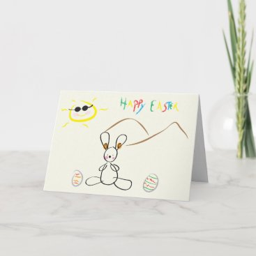 Happy Easter - Kids Drawing Holiday Card
