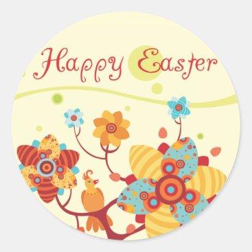 Happy Easter kids Wrist Classic Round Sticker