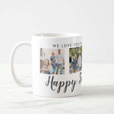 Happy Father's Day 4 Photo Custom Message   Mug