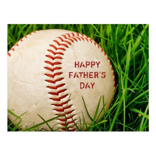 Happy Father's Day Baseball Postcard | Zazzle.com