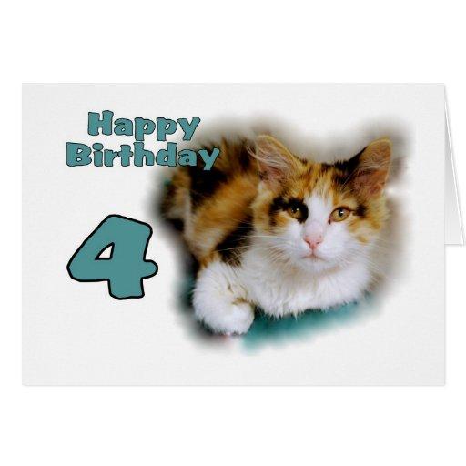 Birthday Wishes Cat Calico