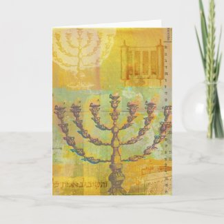 Happy Hanukkah Customizable GIfts and Tees card
