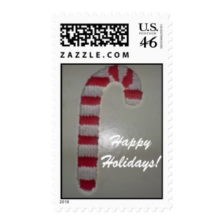 Happy Holidays Candy Cane stamp