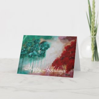 Happy Holidays Enchanted From Original Painting Cards