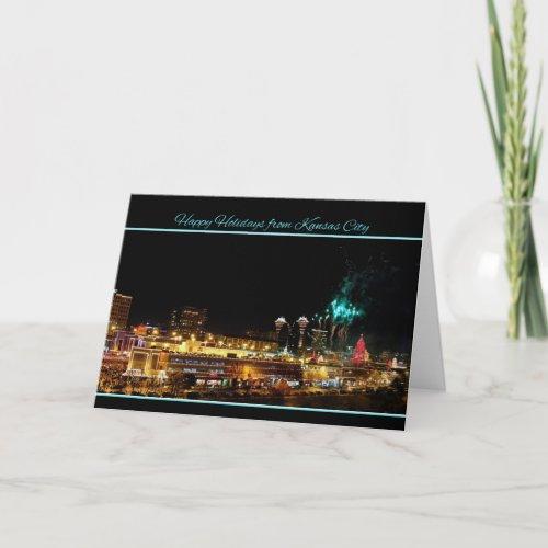 Happy Holidays Fireworks Kansas City Plaza Lights Greeting Card