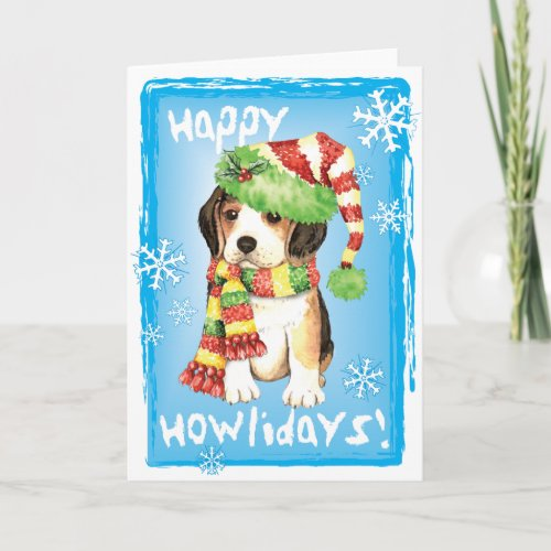 Happy Howliday Beagle Holiday Card