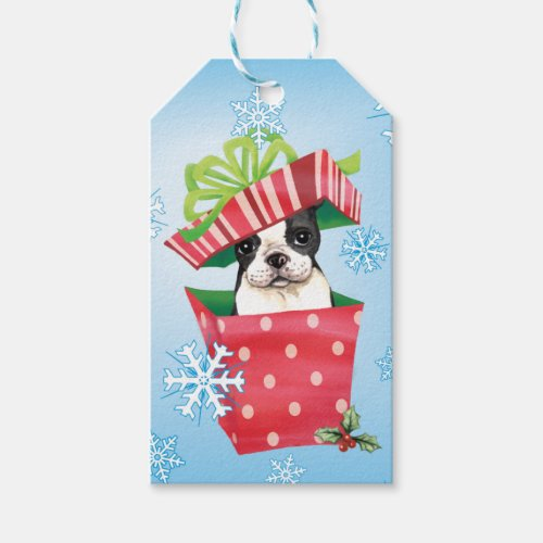 Happy Howliday Boston Gift Tags