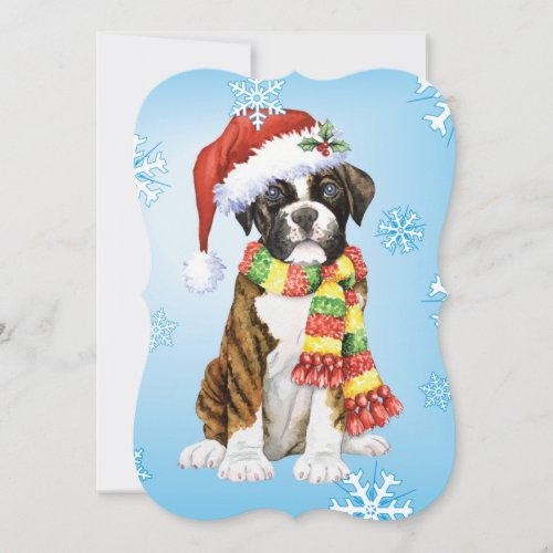 Happy Howlidays Boxer Holiday Card