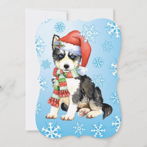 Happy Howlidays Husky Holiday Card