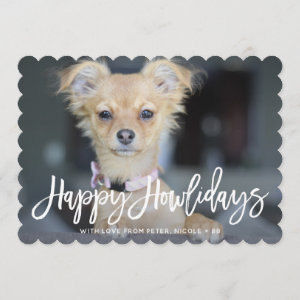 Happy Howlidays Pet Holiday Photo Card