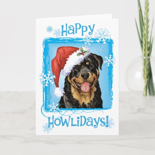Happy Howlidays Rottweiler Holiday Card