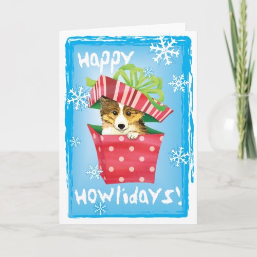 Happy Howlidays Sheltie Holiday Card