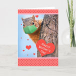 Happy Mother's Day Squirrel in Face Mask Humor Holiday Card