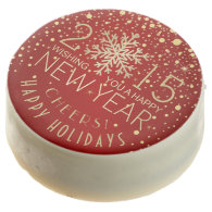 Happy New Year 2015 Snowflake Confetti Holiday Chocolate Covered Oreo